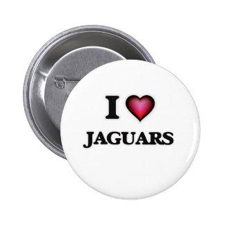 I Love Jaguars Button