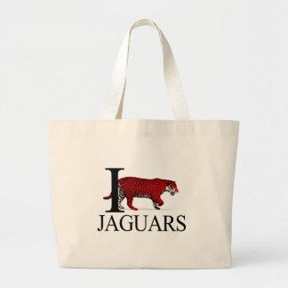 I Love Jaguars Tote Bags