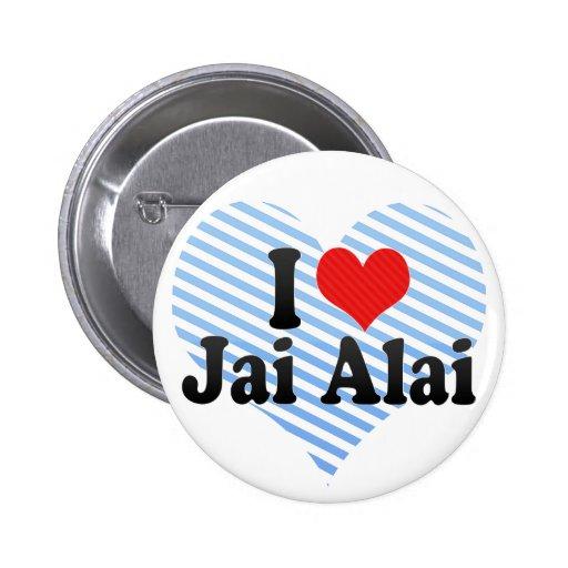 I Love Jai Alai 2 Inch Round Button