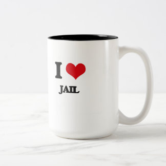 I Love Jail Coffee Mugs