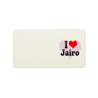 I love Jairo Personalized Address Label