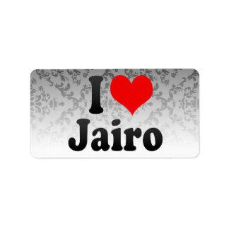 I love Jairo Custom Address Label