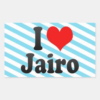 I love Jairo Rectangular Stickers