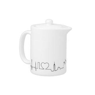 I love Jakarta (ecg style) souvenir Teapot