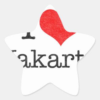 I LOVE JAKARTA STAR STICKER