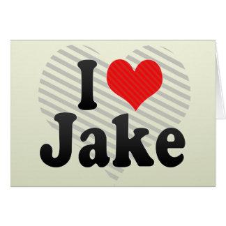 I Love Jake Cards