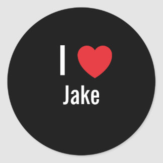I love Jake Classic Round Sticker