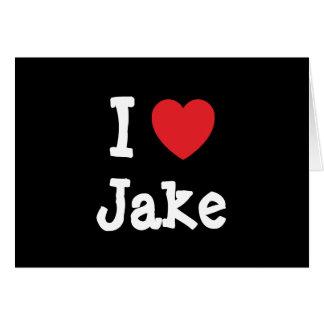 I love Jake heart custom personalized Greeting Card