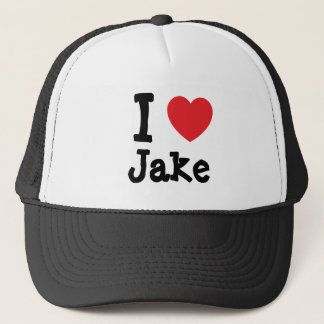 I love Jake heart custom personalized Trucker Hat