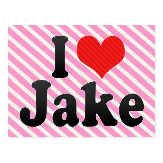 I Love Jake Postcards