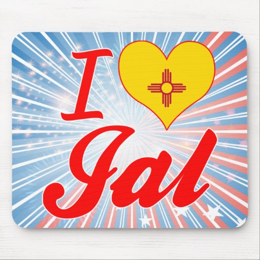 I Love Jal, New Mexico Mouse Pad