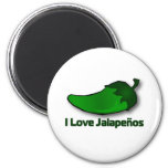 I Love Jalapenos 2 Inch Round Magnet