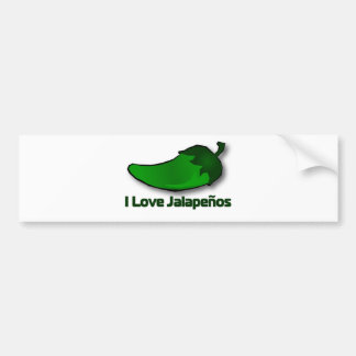 I Love Jalapenos Car Bumper Sticker