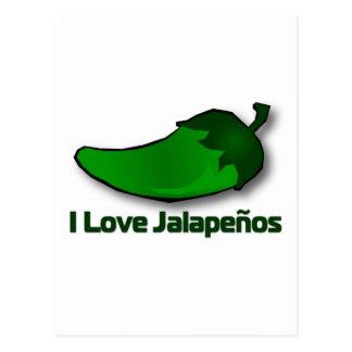 I Love Jalapenos Postcard