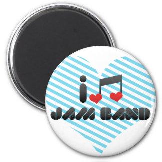 I Love Jam Band Magnets