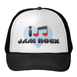 I Love Jam Rock Trucker Hats