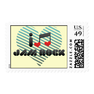 I Love Jam Rock Stamps
