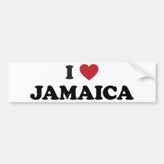 I Love Jamaica Bumper Sticker