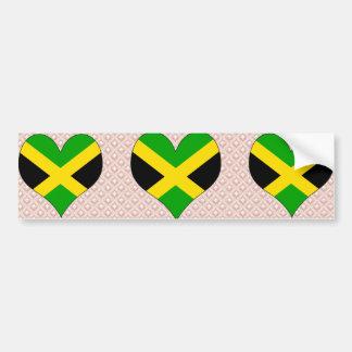 I Love Jamaica Car Bumper Sticker