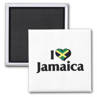 I Love Jamaica Flag Refrigerator Magnets