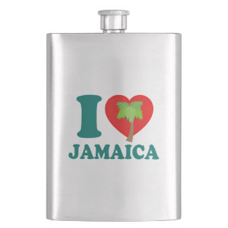 I Love Jamaica Flask