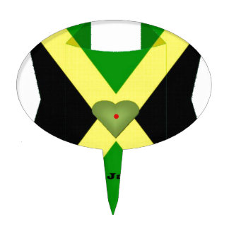 I Love Jamaica Have a Nice Day and a Better Night Cake Toppers