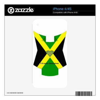 I Love Jamaica Have a Nice Day and a Better Night Skin For iPhone 4S