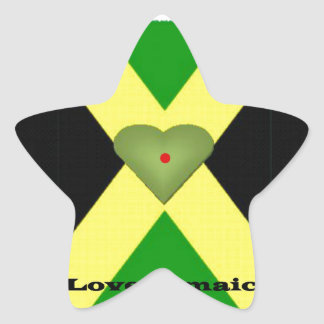 I Love Jamaica Have a Nice Day and a Better Night Star Sticker