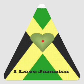 I Love Jamaica Have a Nice Day and a Better Night Triangle Sticker