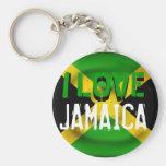 I Love Jamaica Keychain