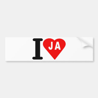 i_love_Jamaica.png Bumper Sticker