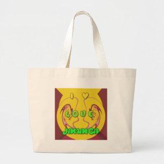 I love Jamaica.png Large Tote Bag