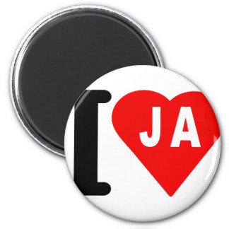i_love_Jamaica.png Refrigerator Magnet