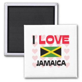 I Love Jamaica Refrigerator Magnet