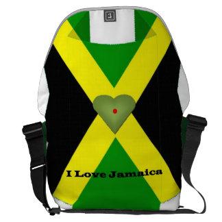 I love Jamaica Rickshaw Messenger Bag