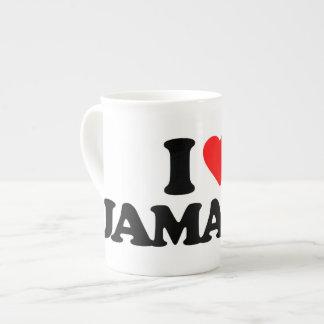I LOVE JAMAICA BONE CHINA MUGS
