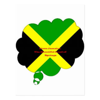 I Love Jamaica. The Beautiful Land of Springs Postcard