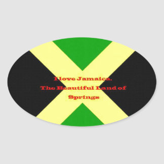 I Love Jamaica. The Beautiful Land of Springs Sticker