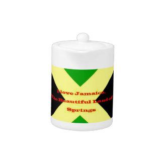 I Love Jamaica. The Beautiful Land of Springs Teapot