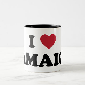 I Love Jamaica Two-Tone Coffee Mug