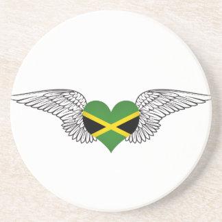 I Love Jamaica -wings Coaster