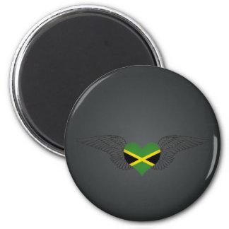 I Love Jamaica -wings Fridge Magnet