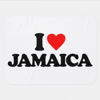 I LOVE JAMAICA BABY BLANKET