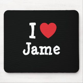I love Jame heart custom personalized Mouse Pad