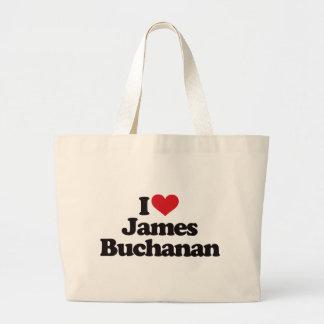 I Love James Buchanan Canvas Bag