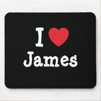 I love James heart custom personalized Mouse Pad
