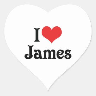 I Love James Heart Sticker