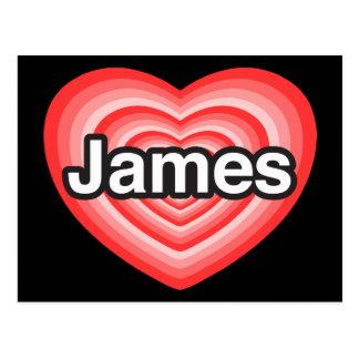 I love James. I love you James. Heart Postcard