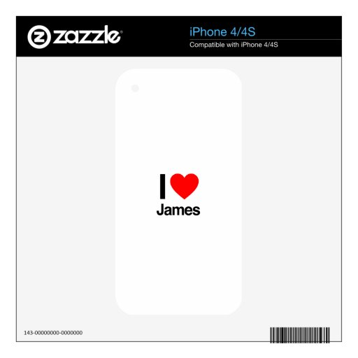 i love james iPhone 4S skin