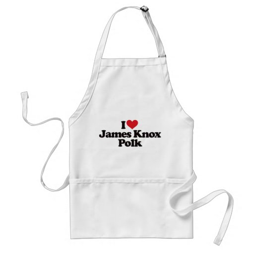 I Love James Knox Polk Aprons